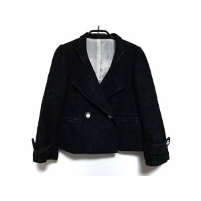 ドゥクラッセ DoCLASSE コート サイズ13 L レディース 黒 ショート丈/冬物【中古】20200409