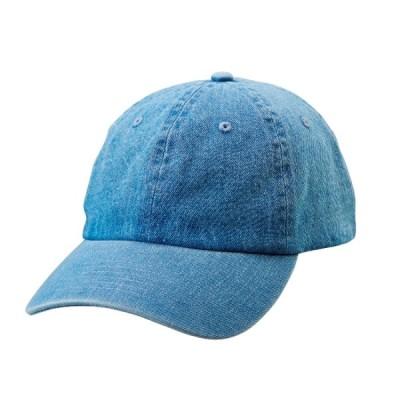 デニム ウオッシュ ローキャップ 帽子 CAP F サイズ ライトブルーデニム 無地 ユナイテッドアスレ CAB