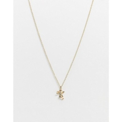 リバーアイランド River Island メンズ ネックレス ジュエリー・アクセサリー neckchain in gold with cherub pendant ゴールド