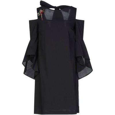 リュー ジョー LIU •JO ミニワンピース&ドレス ブラック 42 コットン 67% / ナイロン 28% / ポリウレタン 5% ミニワンピー