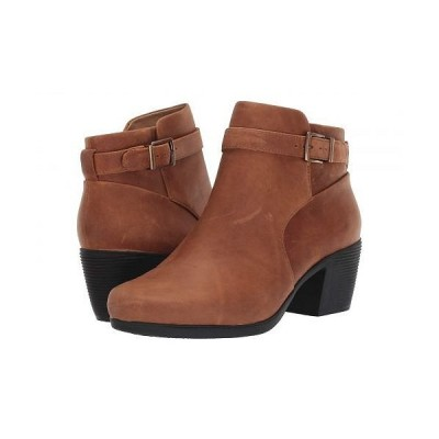 Clarks クラークス レディース 女性用 シューズ 靴 ブーツ アンクル ショートブーツ Un Lindel Lo - Dark Tan Oily Leather