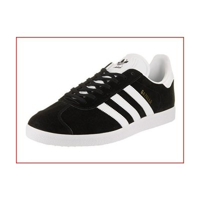 Adidas Originals Men's Gazelle Lace-up Sneaker,Black/White/Gold Met.,12 M US【並行輸入品】