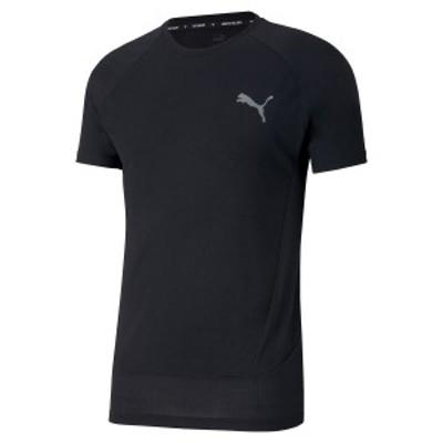 【セール】 プーマ メンズスポーツウェア 半袖機能Tシャツ EVOSTRIPE Tシャツ 58546001 メンズ プーマ ブラック