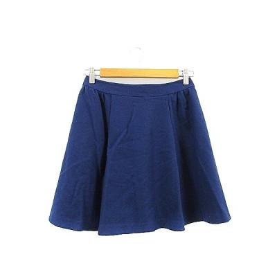 【中古】クミキョク 組曲 KUMIKYOKU スカート フレア ミニ タック S3 青 ブルー /AAM36 レディース 【ベクトル 古着】