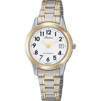 [シチズン Q&Q] 腕時計 Falcon ファルコン D011-404 レディース シルバー