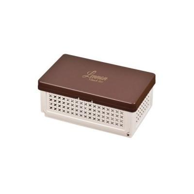 レノン 折りたたみランチボックス(仕切付)ブラウン D-2307