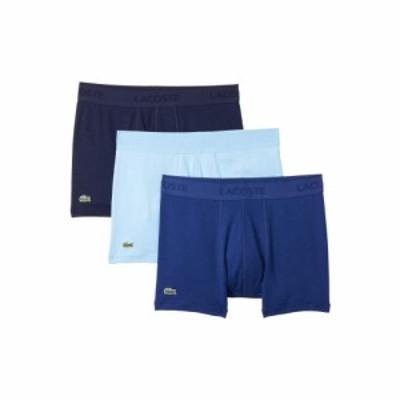 ラコステ Lacoste メンズ ボクサーパンツ インナー・下着 Trunks 3-Pack Essential Classic Navy Blue/Methylene/Tropical