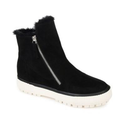 ジャーニーコレクション レディース ブーツ&レインブーツ シューズ Women's Comfort Foam Jezzy Wedge Bootie Black