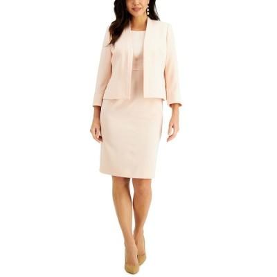 ル スーツ ジャケット&ブルゾン アウター レディース Cropped Jacket & Sheath Dress Suit Light Blossom