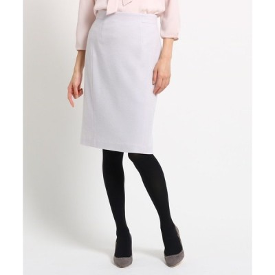 スカート ウール混ジャージタイトスカート
