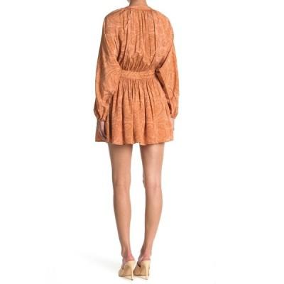 アミューズソサエティ レディース ワンピース トップス Luciana Long Sleeve Woven Dress CRS-CORAL SANDS