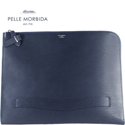 ペッレモルビダ PELLE MORBIDA CAPITANO キャピターノ 型押しレザー クラッチバッグ PMO-CA204 (ネイビー)