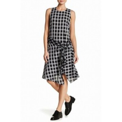 rag & bone ラグ&ボーン ファッション ドレス Rag & Bone NEW Black Womens Size Large L Plaid Print Shift Dress