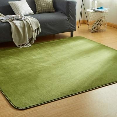 カーペット ラグ 洗える 滑り止め付 防ダニ 抗菌 防臭 185×185cm(約2畳) 10色選べる 1年中使えるタイプ 床暖房