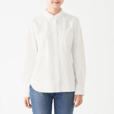 無印良品 新疆綿洗いざらしオックスボタンダウンシャツ 婦人 XS 白 良品計画
