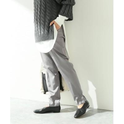 レディース ジャーナルスタンダード 【08 SIRCUS/08サーカス】Wool satin stretch slit pants:パンツ グレー S