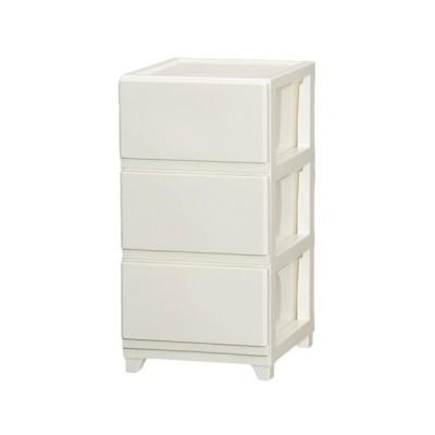 デコニーチェスト3段 ホワイト タンス たんす 収納 収納用品 押入れ収納 衣類収納 衣装ケース キッチン収納 収納棚 リビング収納 家具 整理棚