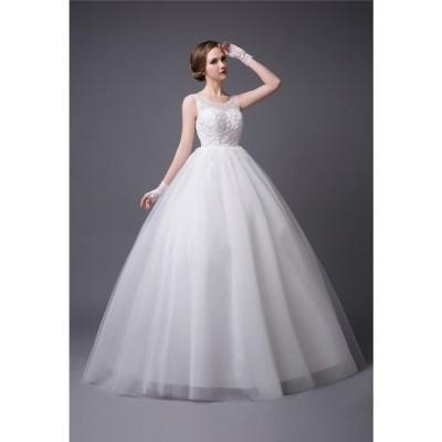 ウェディングドレス ホワイト 花嫁ドレス ロングドレス プリンセスドレス ハイウェスト 二次会 披露宴 お姫系 エンパイア結婚式