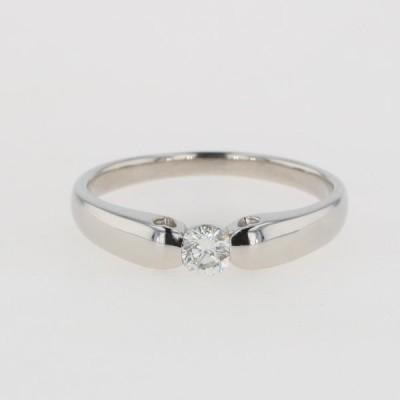 メレダイヤ デザインリング プラチナ 指輪 リング 12.5号 Pt900 ダイヤモンド レディース 中古