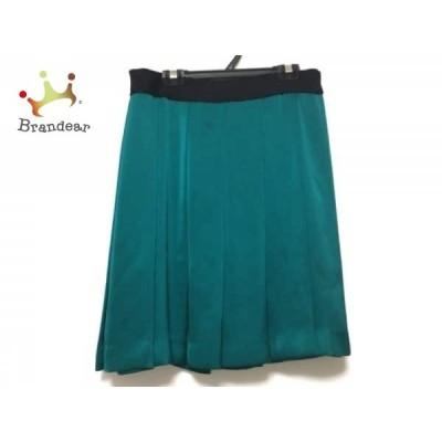 ドレステリア DRESSTERIOR スカート サイズ36 S レディース グリーン×黒 プリーツ     スペシャル特価 20200424