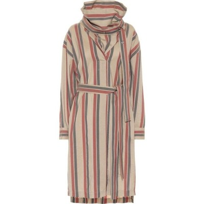 アクネ ストゥディオズ Acne Studios レディース ワンピース ワンピース・ドレス striped wool-blend dress Khaki/Red