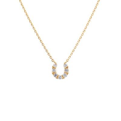 ネックレス K18イエローゴールド ダイヤモンド ネックレス