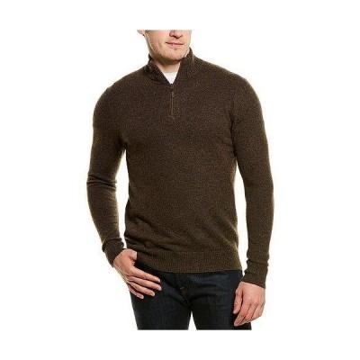 メンズ ファッション  Qi Cashmere 1/4-Zip Cashmere Mock Sweater