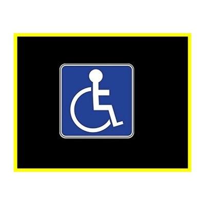 送料無料 CMI PD260 2-Pack Handicap Sign Decal ステッカー | 4-Inches by 4-Inches | Premium Quality Vinyl 並行輸入品