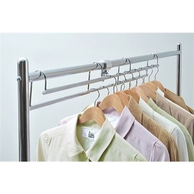 【PAT】【PAT.R】【日本製】衣類収納アップハンガーワイドタイプ【伸縮式】カラー3色 (ホワイト)