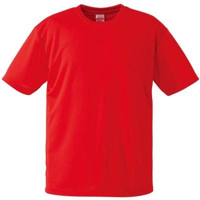 UnitedAthle ユナイテッドアスレ  4.1oz ドライアスレチックTシャツ 590001CXX レッド