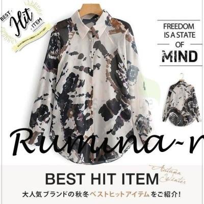 レディース セクシシャツ  迷彩柄 長袖 カットソー トップス 新作 カジュアル おしゃれ かっこいい 夏