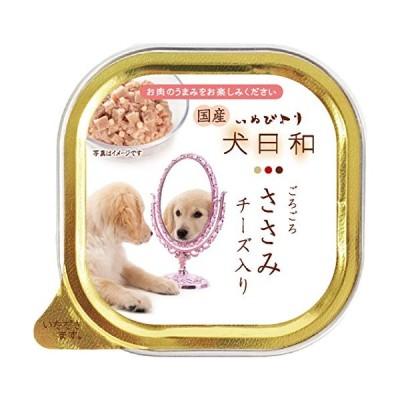 犬日和 ドッグフード トレイささみチーズ入り 100gx24 (まとめ買い)