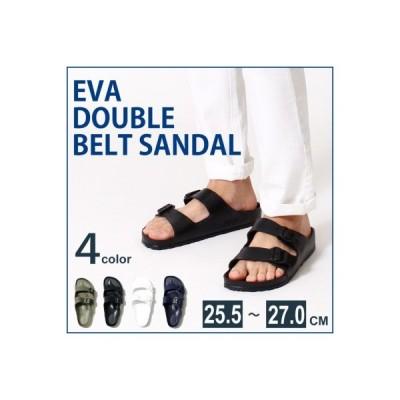サンダル 軽量 スポーツ EVAサンダル 全4色 25.5〜27cm ベランダスリッパ 洗えるEVA素材