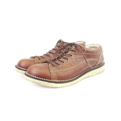 【中古】セダークレスト CEDAR CREST ワークシューズ レースアップ CC-1031 レザー 茶 ブラウン 28 シューズ 靴 ■SM メンズ 【ベクトル 古着】
