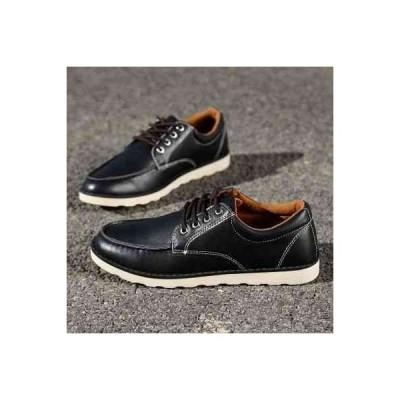 ウォーキングシューズ メンズ カジュアル 革靴 軽量 軽い レザー