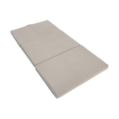エイプマンパッド307 高反発マットレス 三つ折り 厚み7cm (ミッドグレー, シングル)