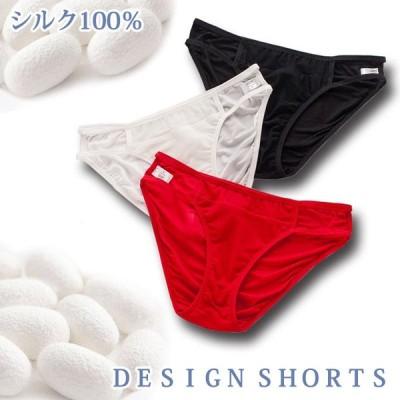 シルク ショーツ メッシュ 紐パン デザイン りらくシリーズ silk 大きいサイズ ゆったり 絹 下着 パンツ