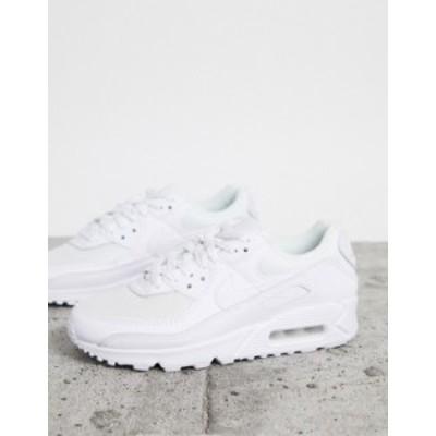 ナイキ レディース スニーカー シューズ Nike Air Max 90 triple white sneakers White
