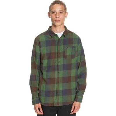 クイックシルバー メンズ シャツ トップス Motherfly Flannel Shirt - Men's Greener Pasture Motherfly