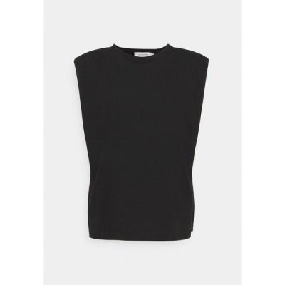 ラウンジ ナイン Tシャツ レディース トップス FIOLA  - Basic T-shirt - pitch black