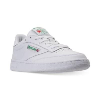 リーボック メンズ スニーカー シューズ Men's Club C 85 Casual Sneakers from Finish Line White, Green