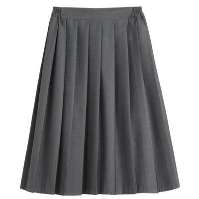プリーツスカート ロングスカート グレー 大きいサイズ ミモレ丈 制服スカート 学生服 入学式 女子高生 スカート ひざ丈 フレアスカート コスプレ コスチューム
