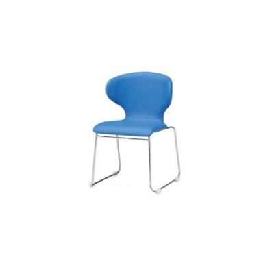 【法人限定】 スタッキングチェア ループ脚タイプ ミーティングチェア オフィスチェア 肘なしチェア オフィス家具  椅子 会議室 ミーティングルーム PN-55NL
