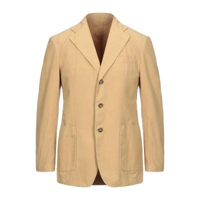 LUBIAM テーラードジャケット サンド 48 コットン 100% テーラードジャケット