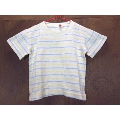 ビンテージ50's★キッズボーダーTシャツ★200501n10-k-tsh古着子供服コットン半袖シャツ