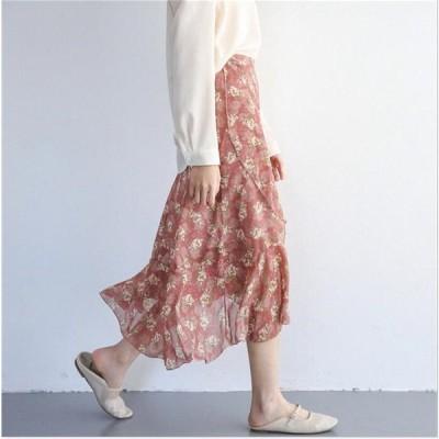 スカート ミモレ丈 膝丈 タック ジャガード ふんわり 夏 ワンピース 可愛い 夏 お呼ばれ 花柄 レディース おしゃれ オフィス 通勤