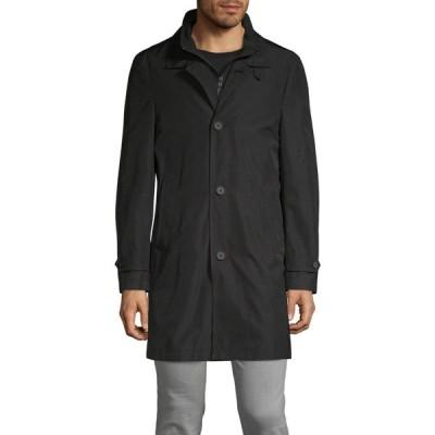 カルバンクライン Calvin Klein メンズ コート アウター Spread Collar Coat ブラック