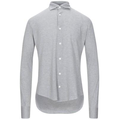 イレブンティ ELEVENTY シャツ グレー 39 コットン 100% シャツ