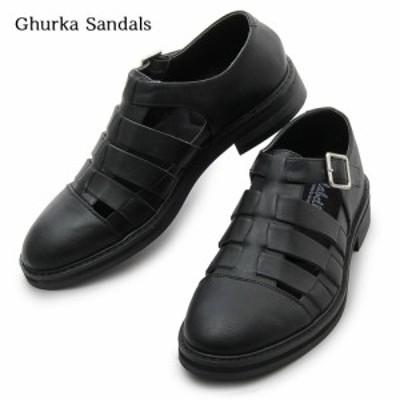 メンズ 靴 サンダル スリッポン グルカサンダル シンプル 上品 カジュアル