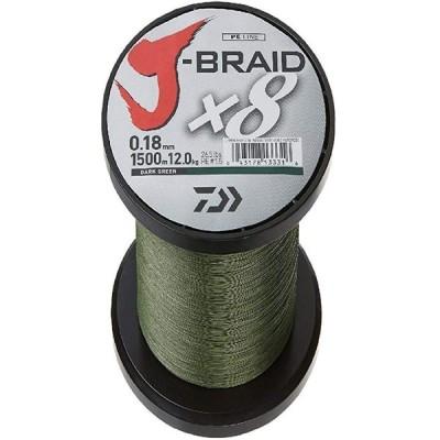"Daiwa, J-Braid x4 Braided ライン, 300 Yards, 50 lbs.013"" Diameter, アイラ(海外取寄せ品)"